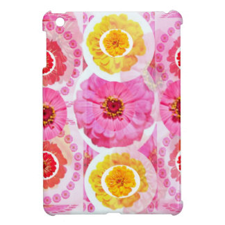 Flower ZINNIA Collage - Enjoy n Share JOY iPad Mini Covers