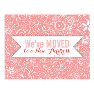 Flowerful Pink Custom Moving / Moved Cards
