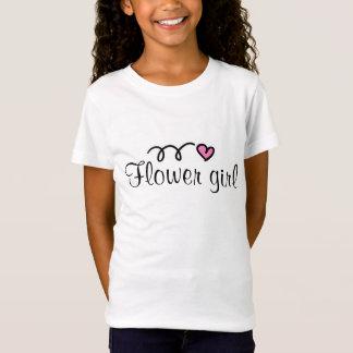 Flowergirl t-shirt with little pink heart