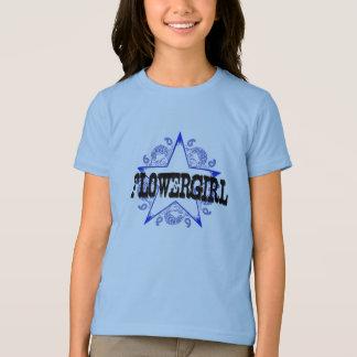 Flowergirl Western Blue T-Shirt
