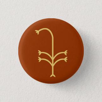 Flowering Sedge 3 Cm Round Badge