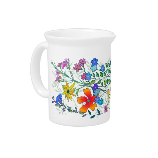 'FlowerMania' Drink Pitchers