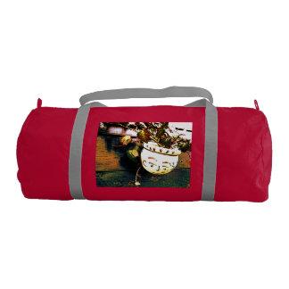 Flowerpot sports bag with a face