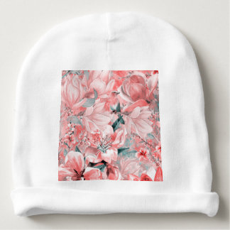 flowers2bflowers and birds pattern #flowers baby beanie