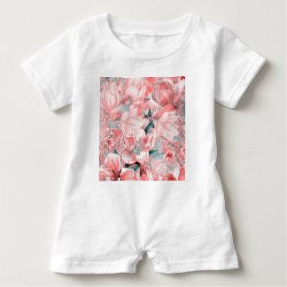flowers2bflowers and birds pattern #flowers baby bodysuit