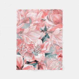 flowers2bflowers and birds pattern #flowers fleece blanket