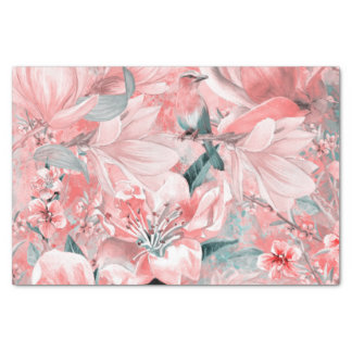 flowers2bflowers and birds pattern #flowers tissue paper