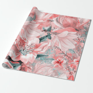 flowers2bflowers and birds pattern #flowers wrapping paper
