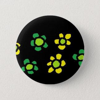 flowers (2) 6 cm round badge