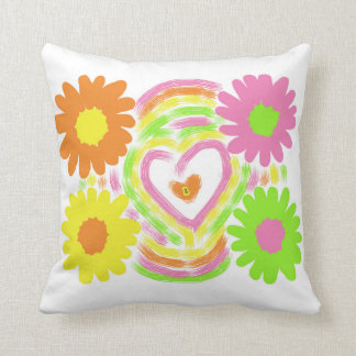 Flowers and a Heart Cushion
