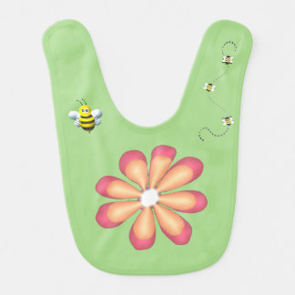Flowers and Bees Bib