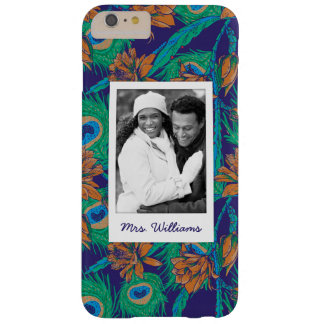 Flowers And Feathers | Add Your Photo & Name Barely There iPhone 6 Plus Case