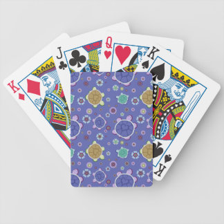 Flowers and Hearts Turtle Pattern Bicycle Playing Cards