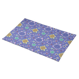 Flowers and Hearts Turtle Pattern Placemat