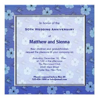 Flowers Anniversary Custom Invite