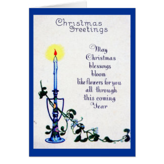 Flowers Christmas Greetings 1924 Vintage Card