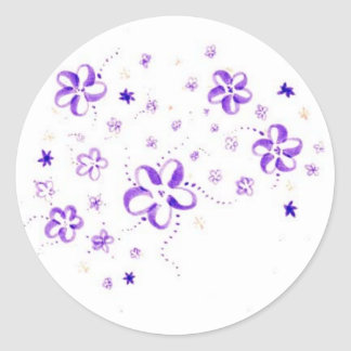 Flowers Classic Round Sticker
