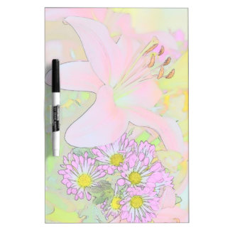 Flowers custom dry-erase board