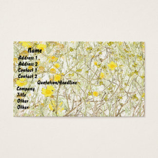 Flowers Floral Garden Blossoms Photography Business Card