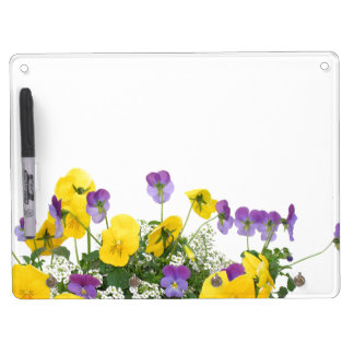 Flowers Floral Garden Photography Dry Erase Board With Key Ring Holder