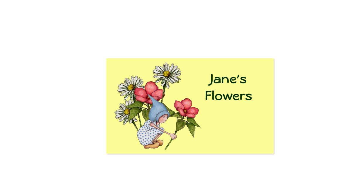 Flower Girl Baskets Nz : Flowers floral cute gnome girl daisies zazzle