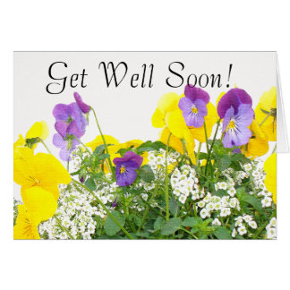 Flowers Get Well Card