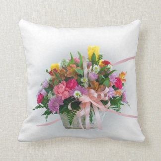 Flowers in a Basket Cushion