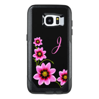 Flowers Monogrammed Otterbox Samsung S7 Edge Case
