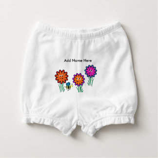 Flowers Nappy Cover