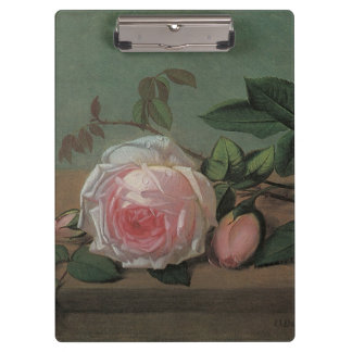 Flowers on a Ledge by Ottesen, Vintage Still Life Clipboard