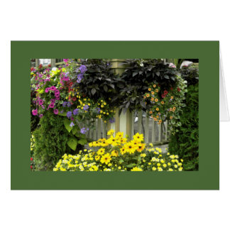 Flowers on Display Card