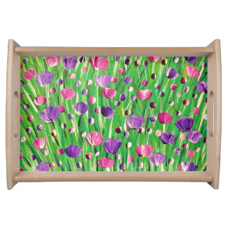 Flowers On Parade Serving Tray