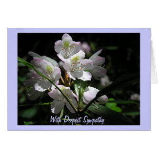 Flowers on Sympathy Card