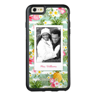 Flowers & Pineapple | Add Your Photo & Name OtterBox iPhone 6/6s Plus Case