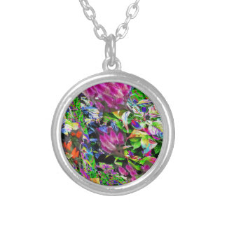 Flowers pink purple garden park beautiful gifts 99 personalized necklace