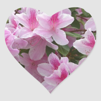Flowers Pink Vines Love Peace Elegant Personalize Heart Stickers
