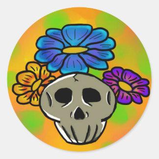 Flowers & Skulls Sticker