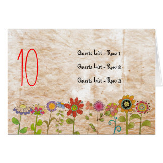 Flowers Wedding Table Placeholder Card