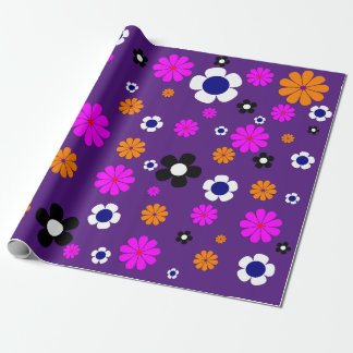 """Flowers Wrapping Paper 30""""x6'"""