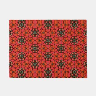 Flowery Geometric Design on Doormat