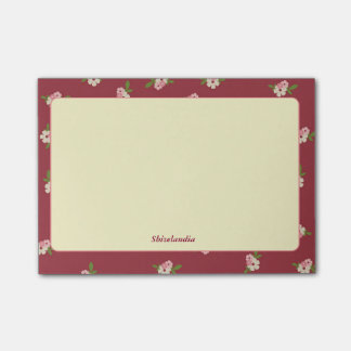 Flowery Vintage Post-It Post-it® Notes