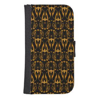 Flowhorn pattern samsung s4 wallet case