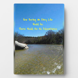 Flowing River Landscape With Inspirational Quote Plaque