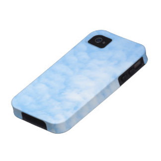 Fluffy clouds and blue sky custom iPhone 4 case
