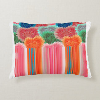 Fluffy hearts pattern 5.1 decorative cushion