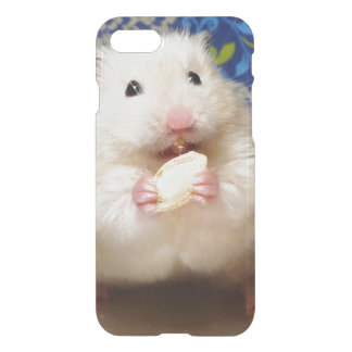 Fluffy syrian hamster Kokolinka eating a seed iPhone 8/7 Case