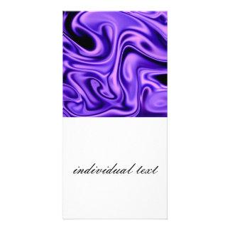 fluid art 01 purple photo cards