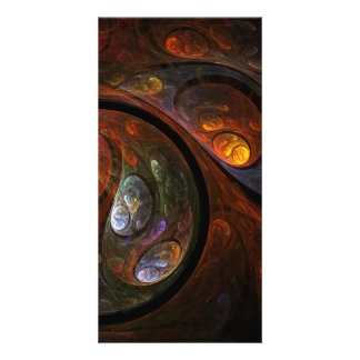 Fluid Connection Abstract Art Photo Card