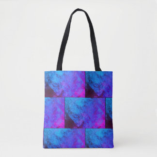 Fluorescent Black Light Colors Abstract Tote Bag