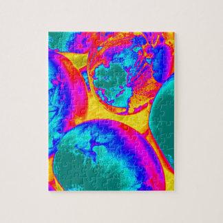 fluorescent eggs jigsaw puzzle